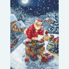 Santa Clause - borduurpakket met telpatroon Luca-S |  | Artikelnummer: luca-b577