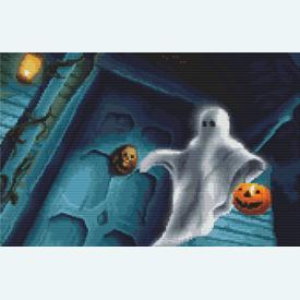 Ghostly Visitor - Kruissteekpakket met telpatroon Orcraphics |  | Artikelnummer: orc-2018-02-42