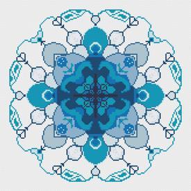 Mandala Blue - borduurpakket met telpatroon Nafra |  | Artikelnummer: nf-nafra21033