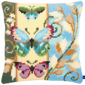 Deco Butterflies- Vervaco Kruissteekkussen |  | Artikelnummer: vvc-154716
