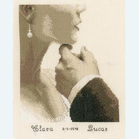 Bride and Groom - kruissteekpakket met telpatroon Vervaco |  | Artikelnummer: vvc-166022