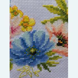 Colourful Flowers tafelloper -  Tafelloper met telpatroon Vervaco |  | Artikelnummer: vvc-183727
