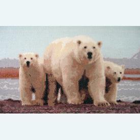 Polar Love - Borduurpakket met telpatroon Orcraphics |  | Artikelnummer: orc-2015-02-25