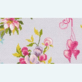 Tits in Flower Wreath  - Vervaco borduurpakket met telpatroon |  | Artikelnummer: vvc-169582