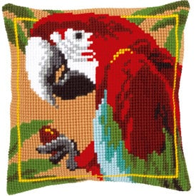 Red Macaw - Vervaco Kruissteekkussen |  | Artikelnummer: vvc-21698