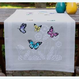 Butterfly Dance loper - voorgedrukt borduurpakket - Vervaco |  | Artikelnummer: vvc-178537
