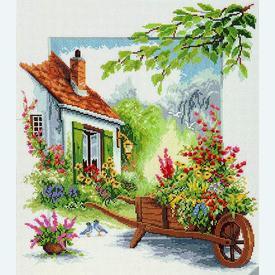 The Blossoming Barrow by Reint Withaar - borduurpakket met telpatroon Vervaco |  | Artikelnummer: vvc-70819