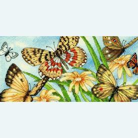 Butterfly Vignette - borduurpakket met telpatroon Dimensions |  | Artikelnummer: dim-65055