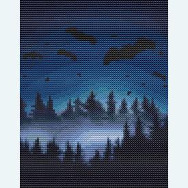 Into the Darkness - Borduurpakket met telpatroon Orcraphics |  | Artikelnummer: orc-2020-06-47
