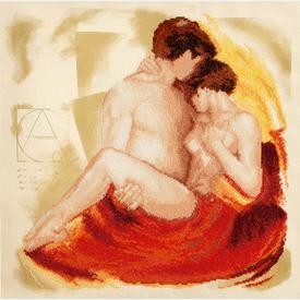 Couple in Love - kruissteekpakket met telpatroon Vervaco |  | Artikelnummer: vvc-29209