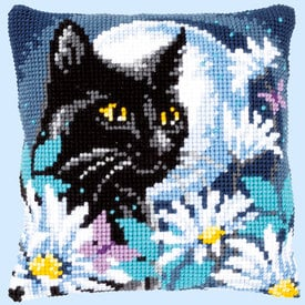Cat in the Night - Vervaco Kruissteekkussen |  | Artikelnummer: vvc-148218