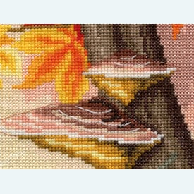 Chickadees Between Autumn Leaves  - kruissteekpakket met telpatroon Vervaco      Artikelnummer: vvc-157566