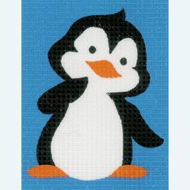 Penguin - halve kruissteekpakket Vervaco | Handwerkpakket voor kinderen, te borduren op geschilderd stramien, in halve kruissteek  | Artikelnummer: vvc-155782
