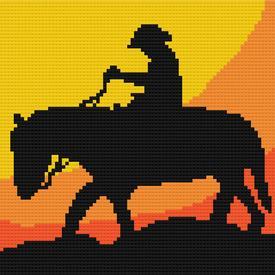 Cowboy Mini 2 - borduurpakket met telpatroon Nafra |  | Artikelnummer: nf-nafra21026