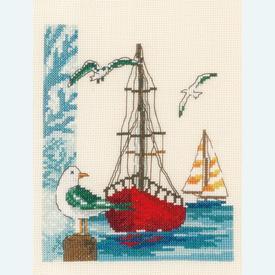 Sailboat - Vervaco kruissteekpakket met telpatroon |  | Artikelnummer: vvc-173173