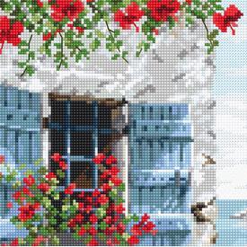 Villa - borduurpakket met telpatroon Letistitch |  | Artikelnummer: leti-985