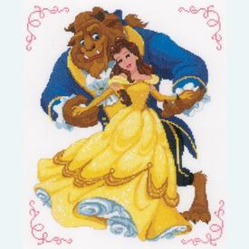 Beauty & the Beast - Disney handwerkpakket met telpatroon - Vervaco |  | Artikelnummer: vvc-168067