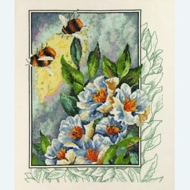 Bees in Flowers -  borduurpakket met telpatroon - Permin |  | Artikelnummer: pm-90-4181