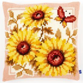 Sun Flowers - Vervaco Kruissteekkussen |  | Artikelnummer: vvc-147040