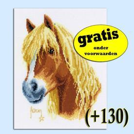 Francien's Pony - kruissteekpakket met telpatroon Vervaco | Gratis onder voorwaarden  | Artikelnummer: vvc-70036-0-130