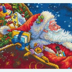 Santa's Midnight Ride - borduurpakket met telpatroon Dimensions |  | Artikelnummer: dim-70-08934