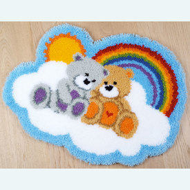 Care Bears - knooptapijt Vervaco | Smyrna tapijt met schattige teddybeertjes | Artikelnummer: vvc-166078