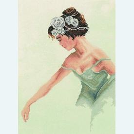 Ballerina - borduurpakket met telpatroon Lanarte |  | Artikelnummer: ln-35012