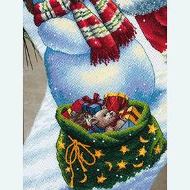 Holiday Glow Stocking - borduurpakket met telpatroon Dimensions |  | Artikelnummer: dim-70-08952