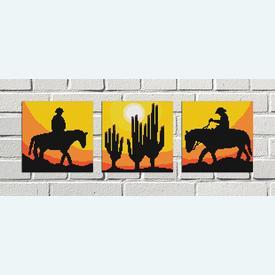 Cowboy Mini 1 - borduurpakket met telpatroon Nafra |  | Artikelnummer: nf-nafra21025