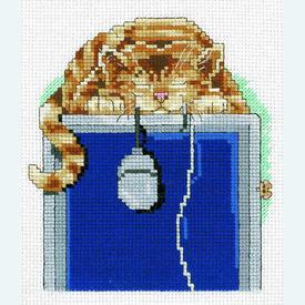 The Mouser - borduurpakket met telpatroon Janlynn |  | Artikelnummer: jl-095.0108
