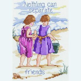 Nothing Can Separate Friends - borduurpakket met telpatroon Janlynn |  | Artikelnummer: jl-021.1052