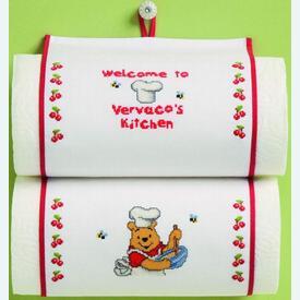 Pooh's Kitchen keukenrolhouder - Disney borduurpakket met telpatroon - Vervaco |  | Artikelnummer: vvc-13901