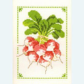 Radishes - borduurpakket met telpatroon Vervaco |  | Artikelnummer: vvc-70885