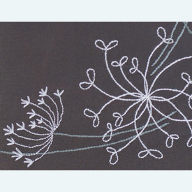 White Flowers - loper - voorgedrukt borduurpakket van Vervaco |  | Artikelnummer: vvc-165300