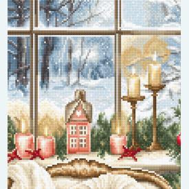 Christmas Interior Design - borduurpakket met telpatroon Luca-S |  | Artikelnummer: luca-b599