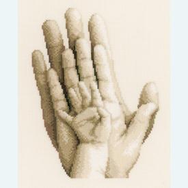 Hands - kruissteekpakket met telpatroon Vervaco |  | Artikelnummer: vvc-154230