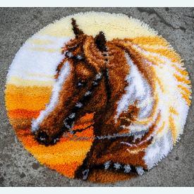 Western Horse - Smyrna tapijt Vervaco | Knooptapijt met een paard | Artikelnummer: vvc-187687