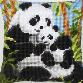 Panda Family - Vervaco Kruissteekkussen      Artikelnummer: vvc-1200-134