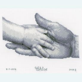 Hands - kruissteekpakket met telpatroon Vervaco |  | Artikelnummer: vvc-157027