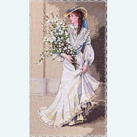 Portrait of Elegance - borduurpakket met telpatroon Dimensions |  | Artikelnummer: dim-03767