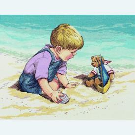 Seashore Fun - borduurpakket met telpatroon Janlynn |  | Artikelnummer: jl-029.0057