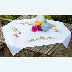 Songbirds theenap - voorgedrukt borduurpakket - Vervaco |  | Artikelnummer: vvc-155847