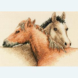 Horse Pals - borduurpakket met telpatroon Dimensions |  | Artikelnummer: dim-65030