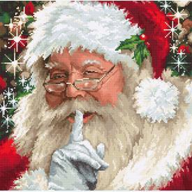 Santa - borduurpakket met telpatroon Luca-S      Artikelnummer: luca-b2398