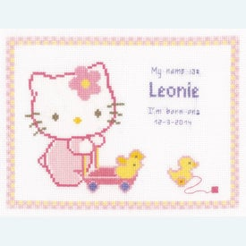 Hello Kitty with Ducks - kruissteekpakket met telpatroon Vervaco |  | Artikelnummer: vvc-150850
