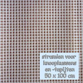 Voorgesneden soudanstramien 50 x 100 cm - voor het maken van een knoopkussen  |  | Artikelnummer: nra-25845