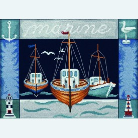 Marine - borduurpakket met telpatroon Lanarte |  | Artikelnummer: ln-34863a