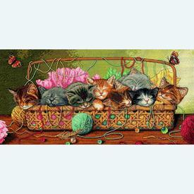 Kitty Litter - borduurpakket met telpatroon Dimensions |  | Artikelnummer: dim-35184