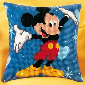 Mickey Mouse - Vervaco Kruissteekkussen - Disney |  | Artikelnummer: vvc-14602
