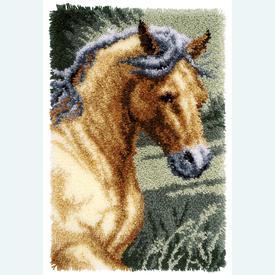 Horse - Smyrna tapijt Vervaco | Knooptapijt met paarden | Artikelnummer: vvc-150907